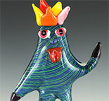 babaganoosh vt kids design glass sculpture